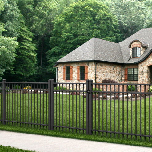 Black Aluminum Fence - Fence Installation And Repair - Indiana
