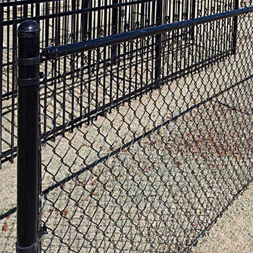 Macon County Tennessee Black Chain Link Fence Installation