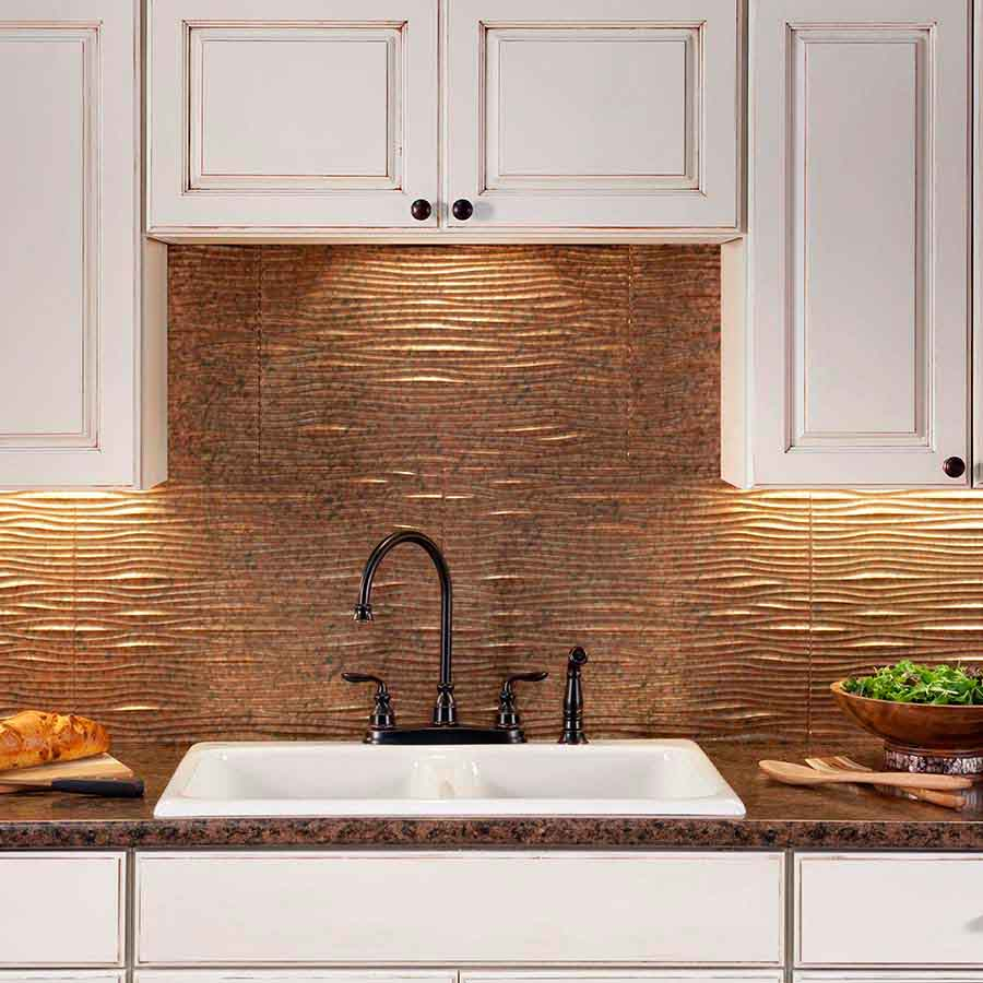 copper backsplash kitchen backsplash cost estimates included