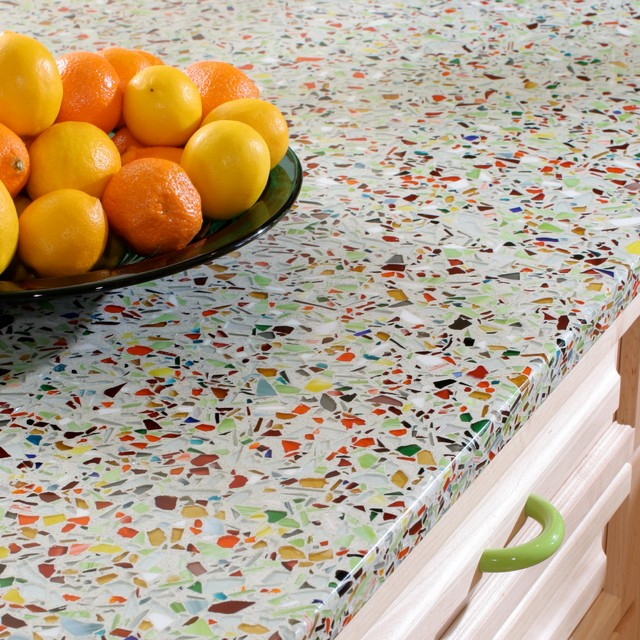 Recycled Glass Countertop   Cost Estimates For Kitchen Countertop